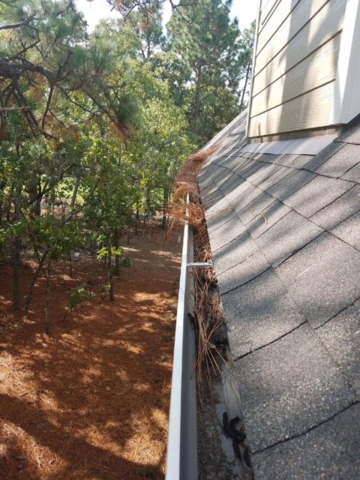 before image of dirty gutters