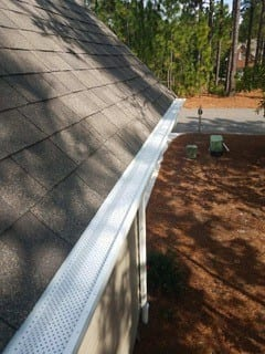 after image of cleaned gutters