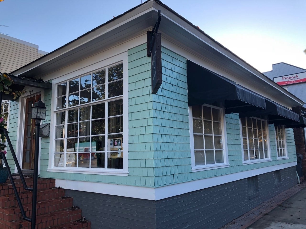 Front and right side view of commercial painting project