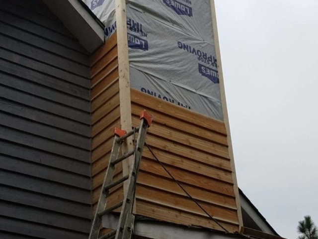 Second stage of chimney repair
